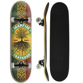 Skate Completo Iniciante Marfim - Raiz