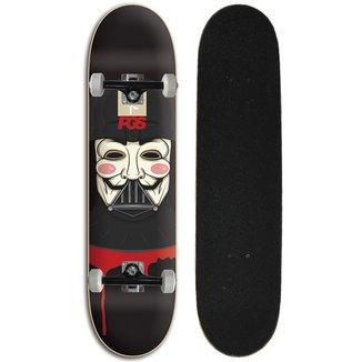 Skate Completo Iniciante Progress - PGS Anonimus Black