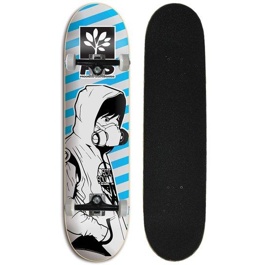 Skate Completo Iniciante Progress - PGS Black Block - Estampado