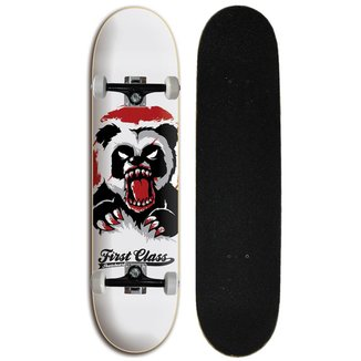 Skate completo Street Iniciante First Class - Panda