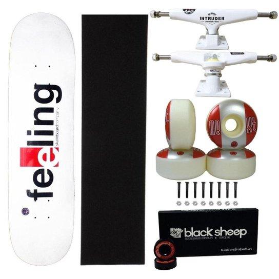 Skate Feeling Montado 8.0 Truck Intruder 139mm Roda Next 53m - Branco