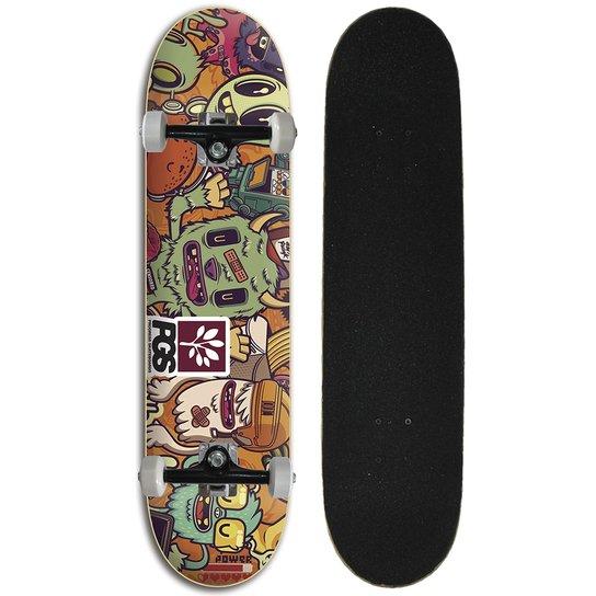 Skate Iniciante Completo Progress - PGS Monster Colors - Estampado