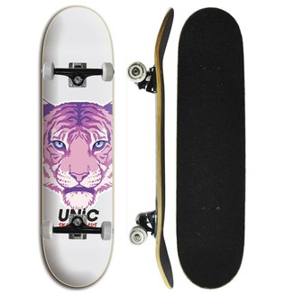 Skate Iniciante Completo Unic Skateboard - Tigre Rosa