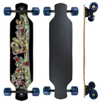 Skate Longboard completo Feminino First Class - Flores