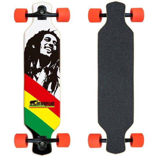Skate Longboard completo Marfim - Bob - Preto