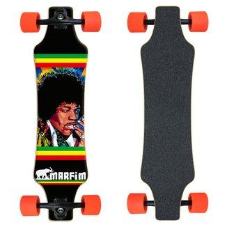 Skate Longboard completo Marfim - Hendrix