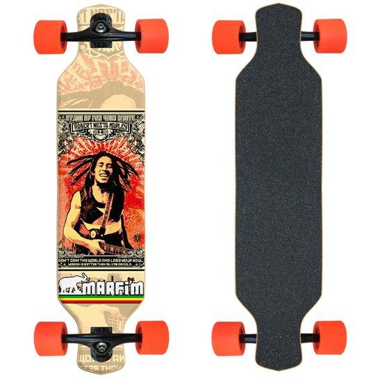 Skate Longboard completo Marfim - Marley - Preto