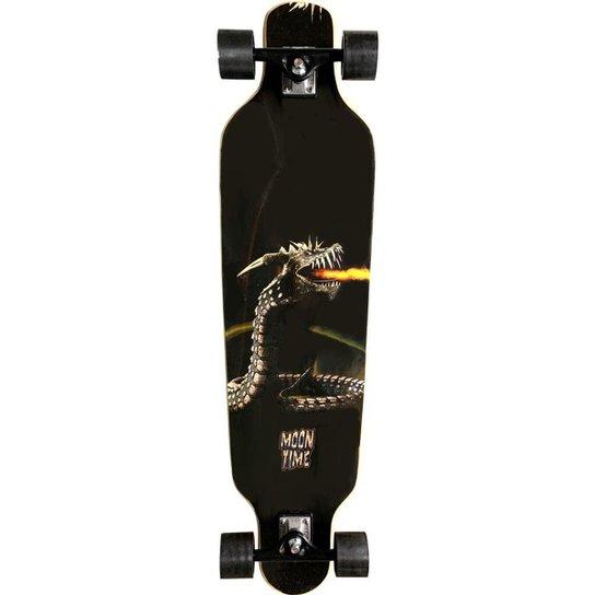 Skate Longboard Moon Time Dragon Lore - Preto