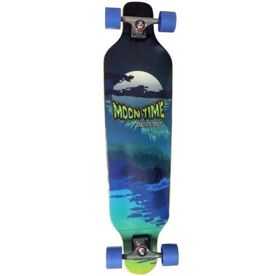 Skate Longboard Moon Time Wave Speed - Incolor