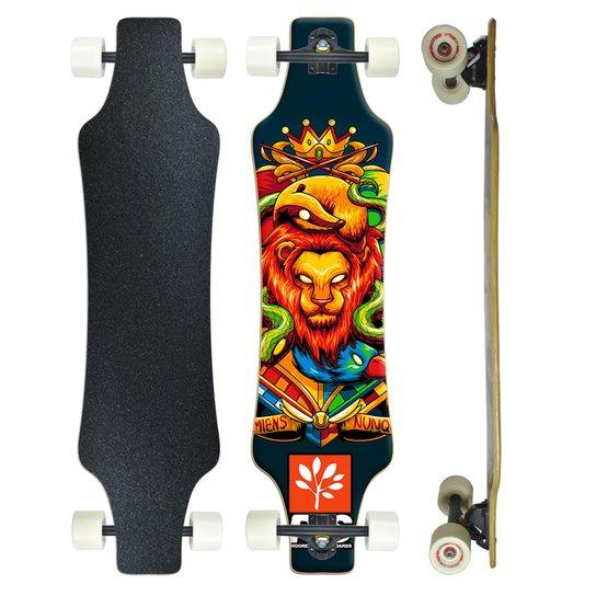 Skate Longboard Speed3 Montado Profissional PGS   7.9 - Preto