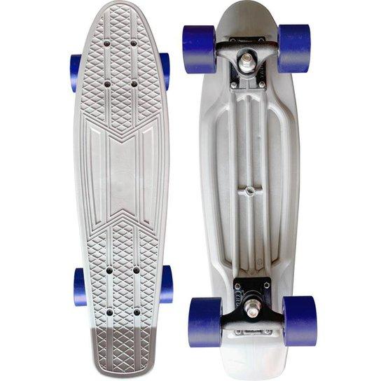 Skate Mini Cruiser Moon Time Prateado 22 POL. - Cinza
