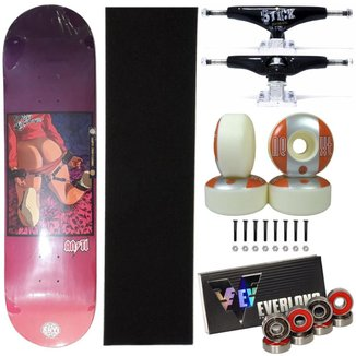 Skate Montado Anti Action 8.5 Truck 139mm Next 53mm 101A