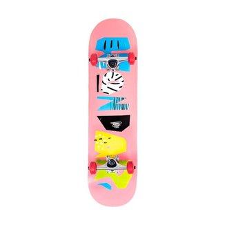 Skate Montado Creme Hondar Iniciante Rosa