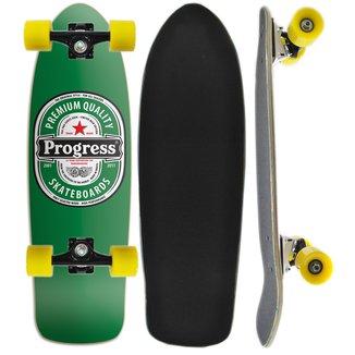 Skate Montado Cruiser Tail Progress - PGS - Cerveja