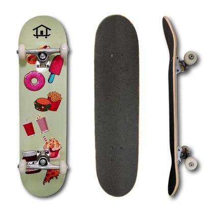 Ir para Mulheres House Skateboarding Coração Rosa e Guloseimas