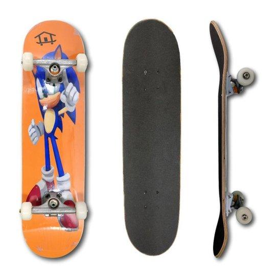 Skate Montado Profissional House Skateboarding Personagens - Laranja