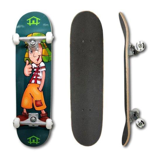 Skate Montado Profissional House Skateboarding Personagens - Verde