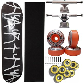 Skate Montado Shape Marfim Narina 8.2 Truck 139mm Abec 13