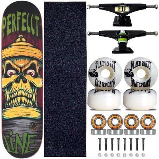 Skate Perfect Line Shape Profissional Skull Pronta Entrega - Única