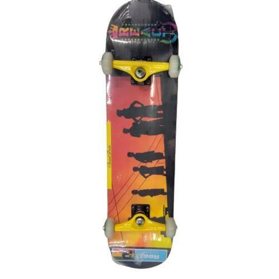 Skate React Skatebording Montado - Preto