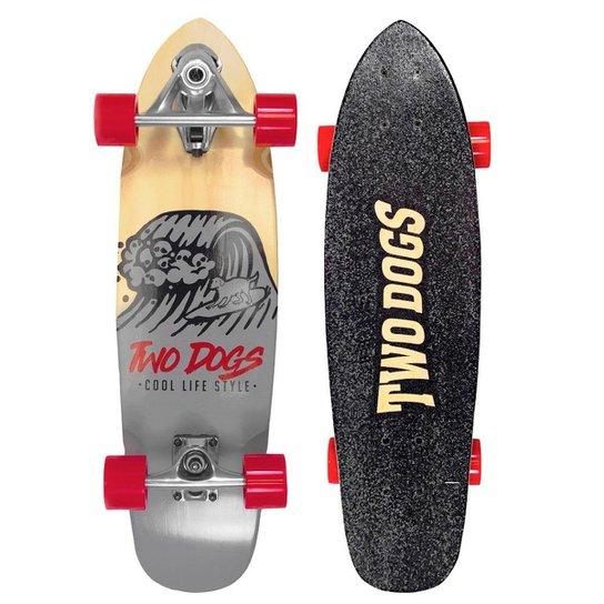 Skate Simulador de Surf Two Dogs - Vermelho