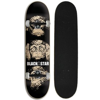 Skate Street Completo Iniciante Black Star - Sentidos