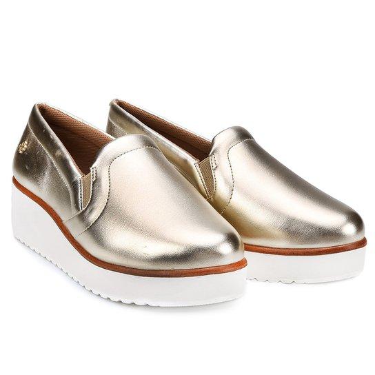 Slip On Capodarte Flatform - Dourado