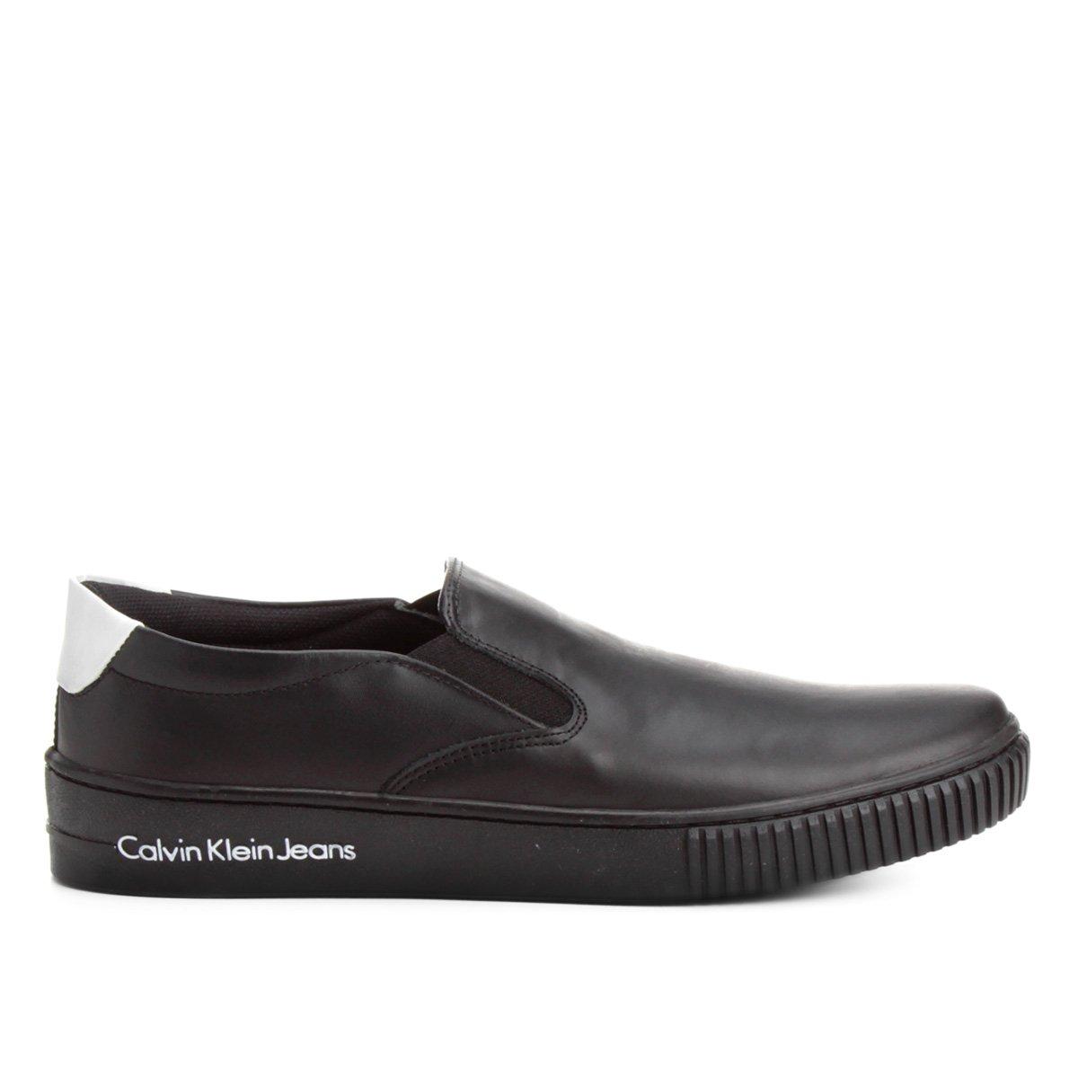 c87da618912e3 Slip On Couro Calvin Klein Iate Masculino - Compre Agora   Netshoes