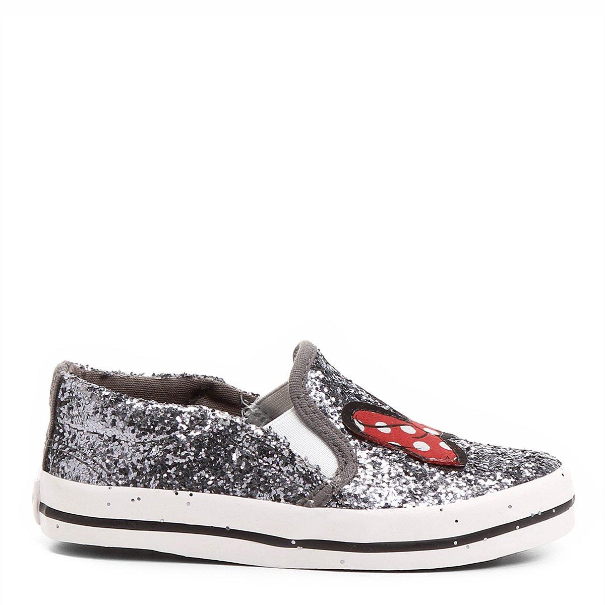 Slip On Disney Minnie Glitter Infantil - Compre Agora  8a2f9409ea