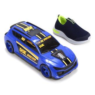 Slip On Infantil Dok Racer Masculino + Carrinho