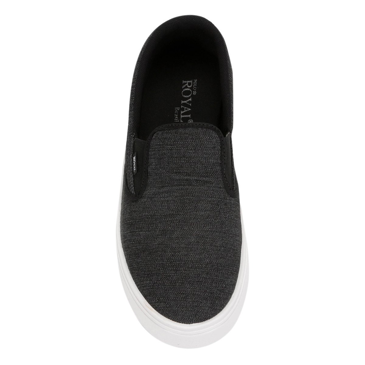 e Iate Royal Polo Lona Masculino Slip Preto Branco On wznHqxz0FS