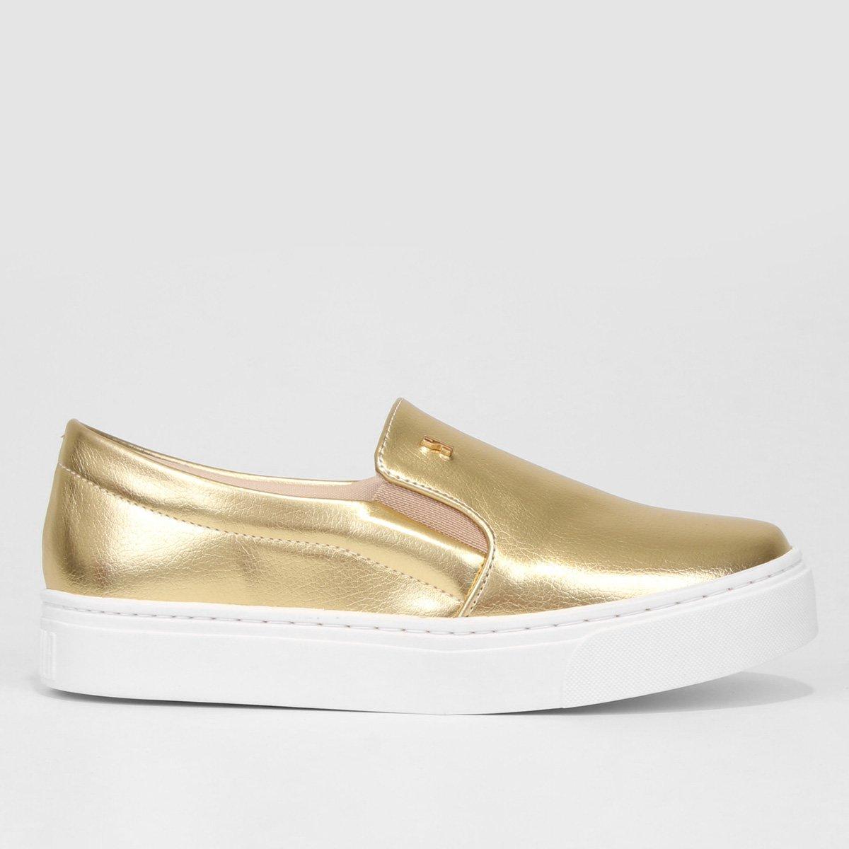 0123508f6 Slip On Santa Lolla Caixa Alta Feminino - Dourado   Netshoes