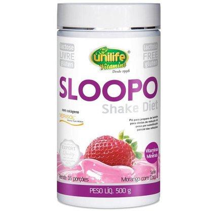 Sloopo Shake Diet com colageno 400g Sabor Morango Unilife