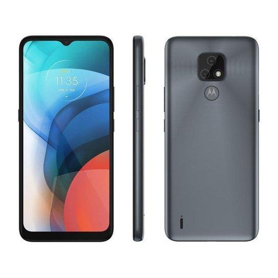 Smartphone Motorola Moto E7 64GB Metálico - Cinza