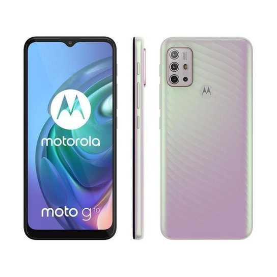 Smartphone Motorola Moto G10 64GB  Floral - Branco
