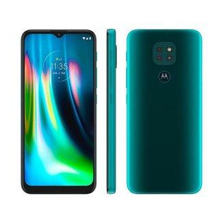 "Smartphone Motorola Moto G9 Play 64GB - 4G Octa-Core 4GB RAM 6,5"" Câm. Tripla + Selfie 8MP"