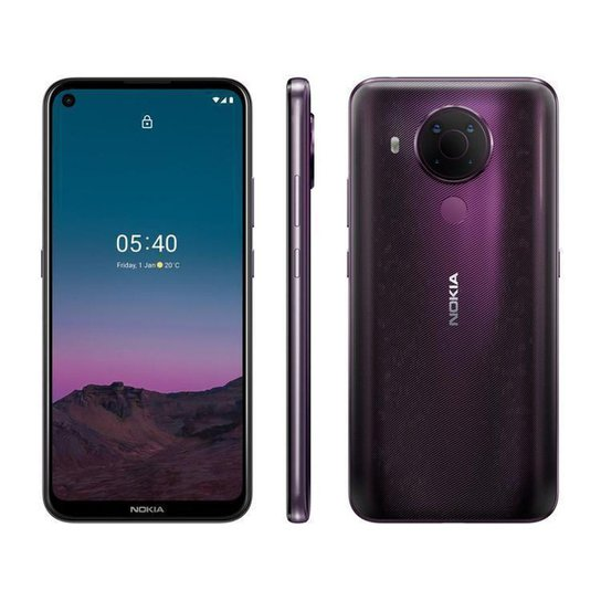 Smartphone Nokia 5.4 128GB Roxo 4G Octa-Core - Roxo
