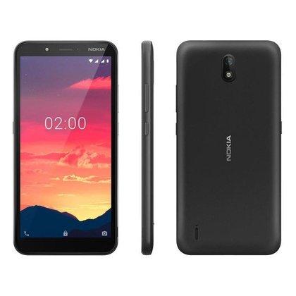 "Smartphone Nokia C2 16GB Preto 4G 1GB RAM 5,7"""