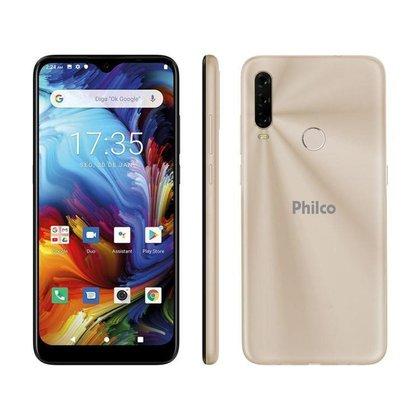 Smartphone Philco HIT P10 128GB Dourado 4G