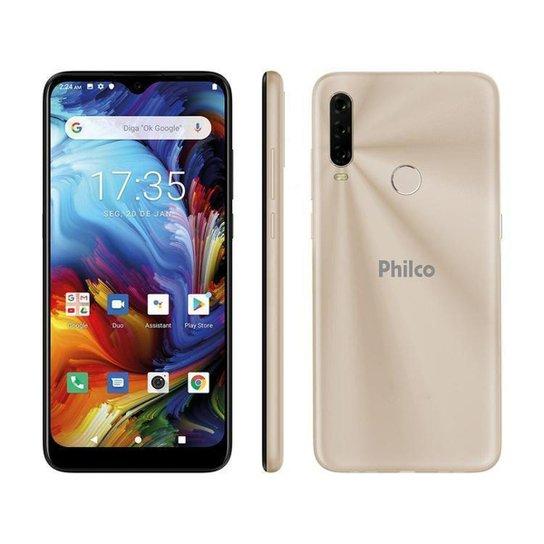 Smartphone Philco HIT P10 128GB Dourado 4G - Dourado