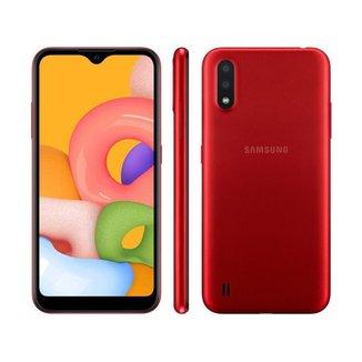 "Smartphone Samsung Galaxy A01 32GB Octa-Core 2GB RAM Tela 5,7"""