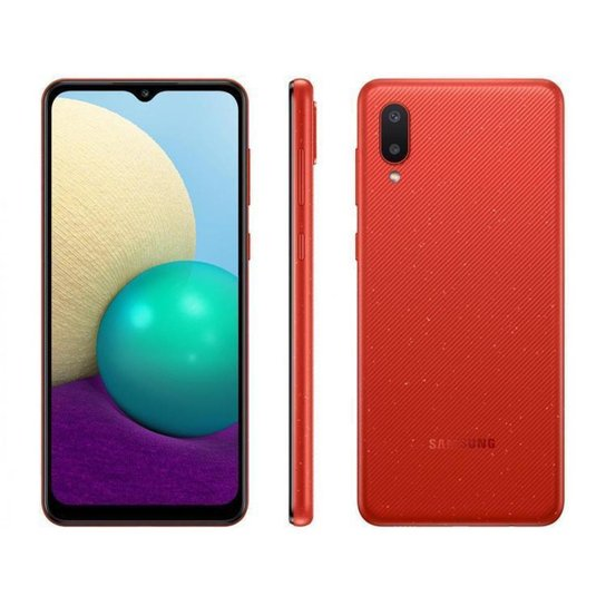 Smartphone Samsung Galaxy A02 32GB  4G - Vermelho