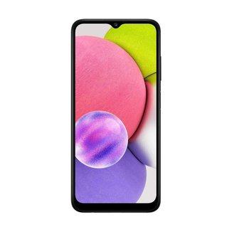 "Smartphone Samsung Galaxy A03s, 64GB, 4GB RAM, Bateria 5000mAh, Tela Infinita de 6.5"" Preto"