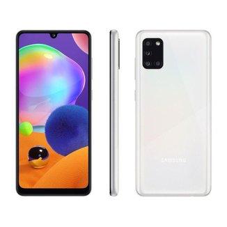 "Smartphone Samsung Galaxy A31 128GB 4G - Octa-Core 4GB RAM Tela 6,4"" Câm.Quádrupla + Selfie"