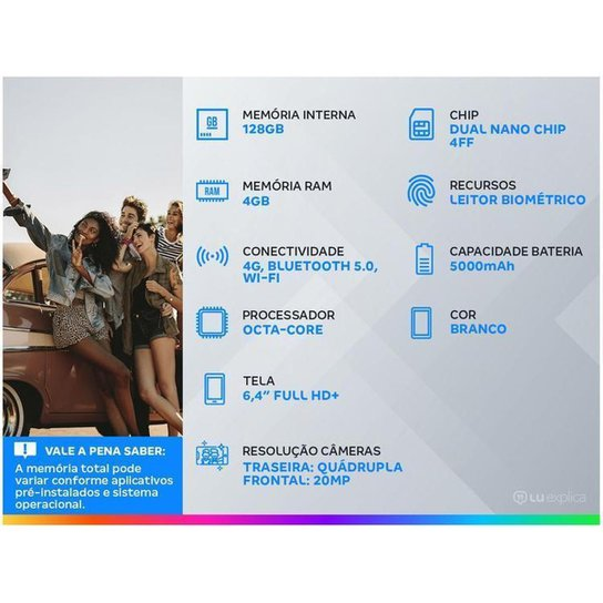 Smartphone Samsung Galaxy A32 128GB Violeta 4G - Branco