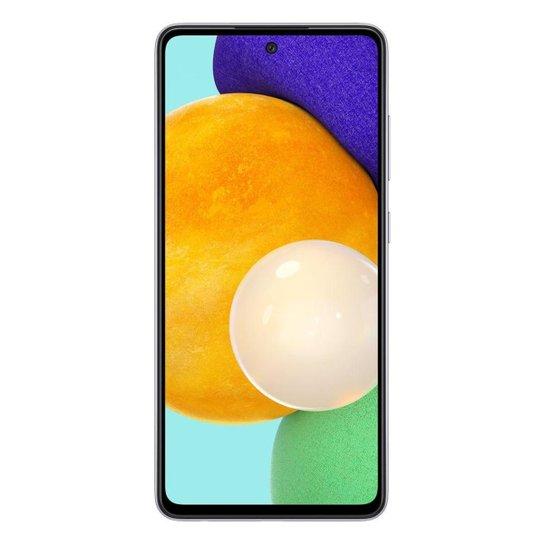 "Smartphone Samsung Galaxy A52 5G + 128GB + 6GB RAM Tela de 6.5"" Preto - Violeta"