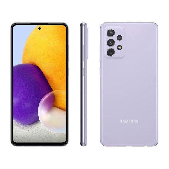 Smartphone Samsung Galaxy A72 128GB Branco 4G - Violeta