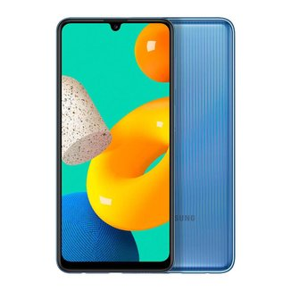 "Smartphone Samsung Galaxy M32, 128GB, 6GB RAM, Bateria de 5000mAh, Tela Infinita de 6.4"" Branco"