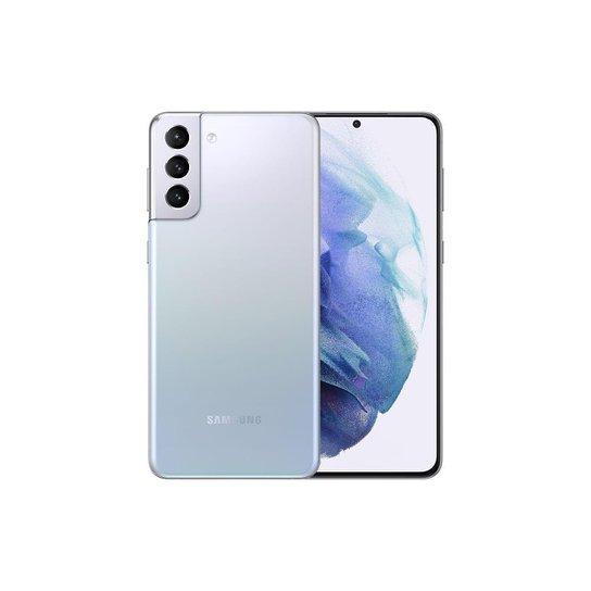 "Smartphone Samsung Galaxy S21+, 128GB + 8GB RAM, Tela Infinita de 6.7"" Smartphone Samsung Galaxy S21 - Azul+Gelo"