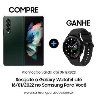 """Smartphone Samsung Galaxy Z Fold3 5G, Dobrável, 256GB, 12GB de RAM, Tela de 7.6"""" Verde"""